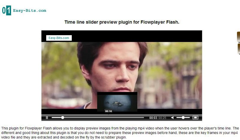Click to view Time line thumbnails plugin Flowplayer screenshots